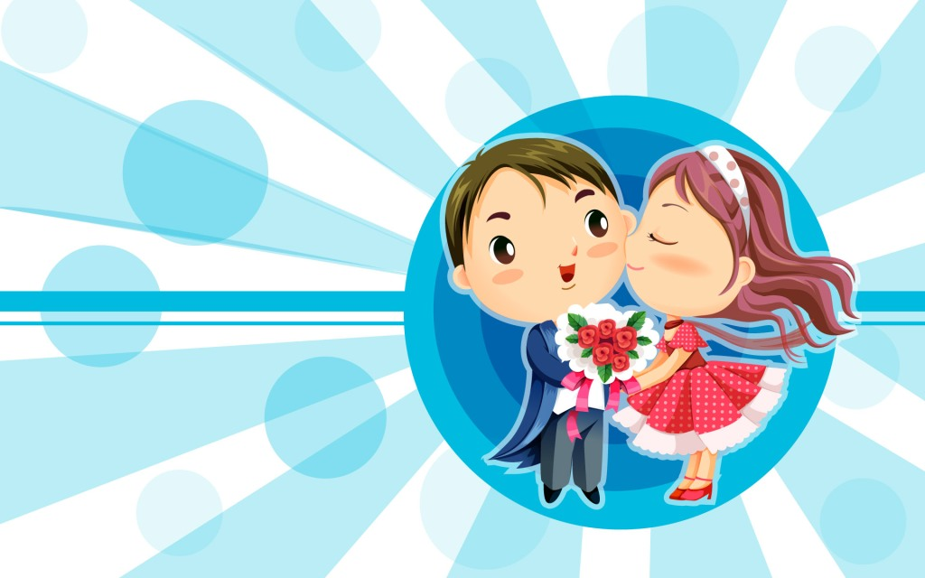 Love Kiss Wallpaper cartoon : Romantic couples cartoon WallpapersRomantic Wallpaperschobirdokan
